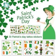 hot deal buy ec series 2019 saint patrick's day tattoo stickers irish party fake tattoo gala parade temporary tattoo body art taty.