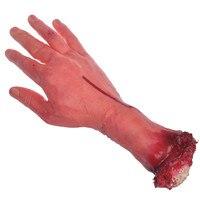 יד אימה לטקס אדם מפחיד נוראה עקובה מדם שבורה עקובה מדם Lifesize יד זרוע קצוץ מנותק ניתק אבזר גומי ליל כל הקדושים דקור