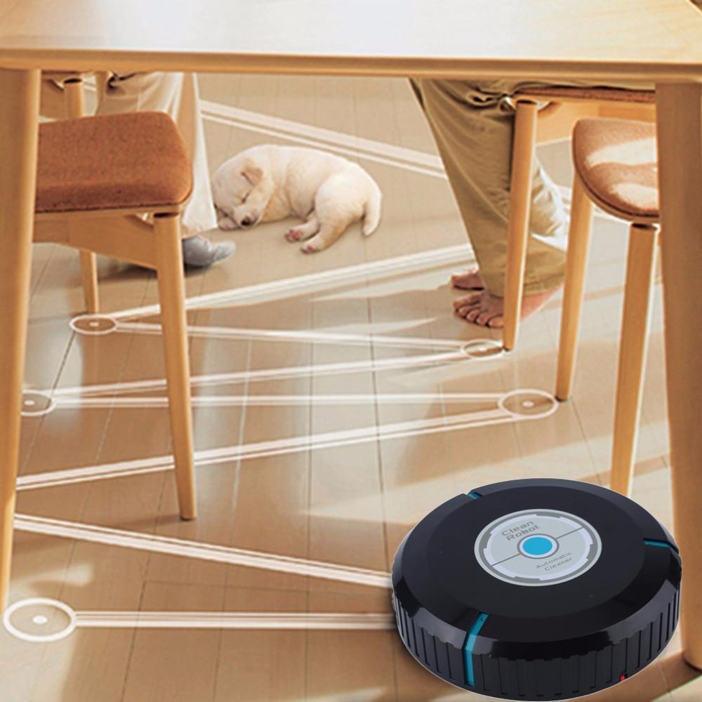 Hause Auto Reiniger Roboter Mikrofaser Smart Robotic Mop Boden Ecken Staub Reiniger Kehrmaschine Staubsauger 2 Farben-tropfen-verschiffen