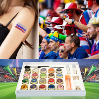 20 Color Glitter Tattoo Kit Body Painting Art With Powder/Brushes / Glue / Stencils Temporary tattoo kit Tattooing Supplies