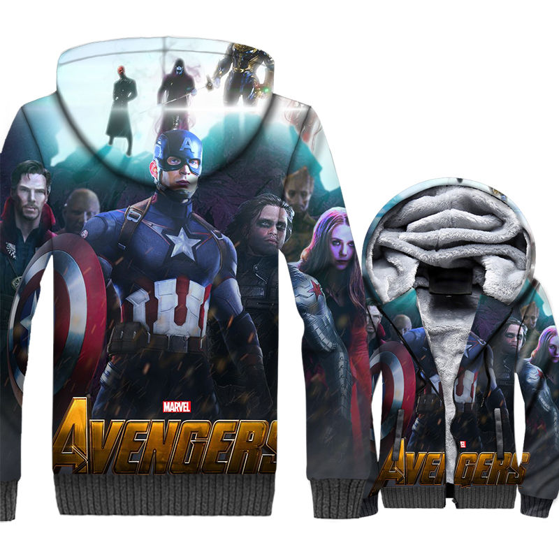 Thanos Black panther sweatshirts funny fashion Super hero iron Man jackets coats 3D printed Doctor Strange hoodies men coat 2019