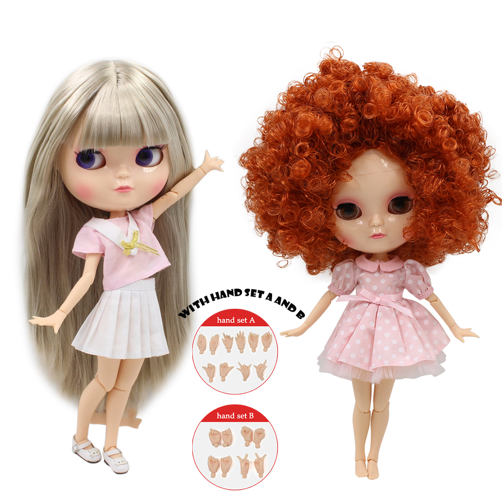 Free shipping Nude ICY doll with hands set A and B Suitable For make up and dress up for her in special offer Factory Blyth ...