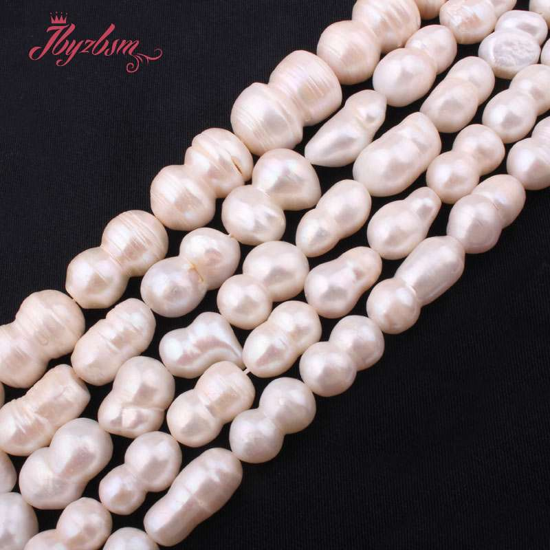 Natural Cultured Freshwater Pearl White Photo Loose Stone Beads For Jewelry Making DIY Necklace Bracelet Spacer Strand 15