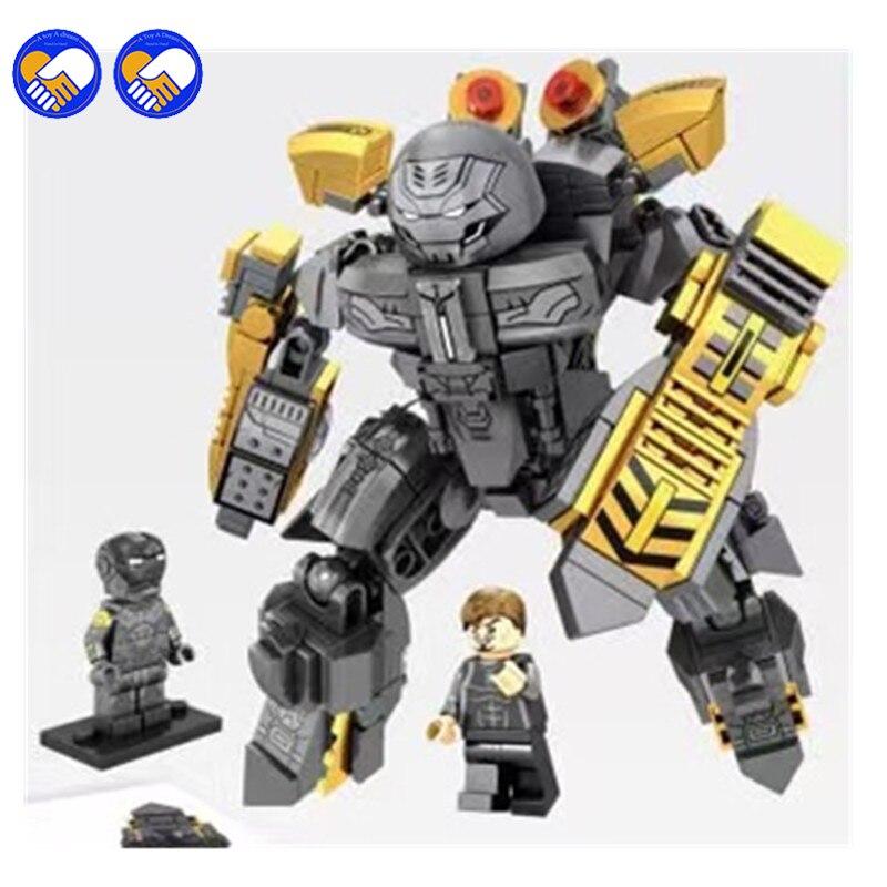 A toy A dream MK25 Super Heroes Avengers IronMan model mech Iron Man Armor Mech Hammerhead Hulkbuster Bricks Toys Legoingly
