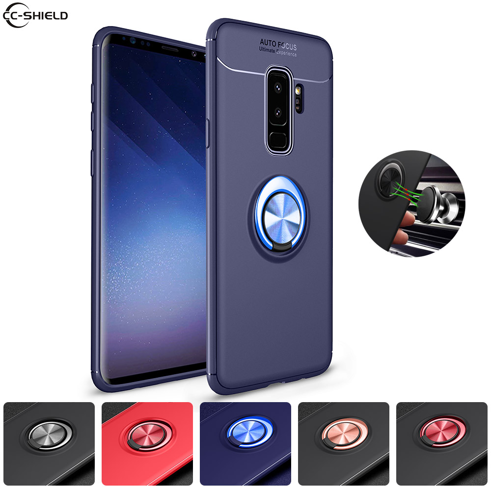 super popular 87b5d 4f212 US $4.69 6% OFF|Soft Silicone Case for Samsung Galaxy S8 S9 + 8S 9S Plus  S9Plus Case Ring Phone Cover for Samsung Galaxy S 8 S 9 Plus TPU Cases-in  ...