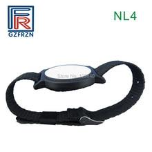 1pcs 125 KHz RFID สายรัดข้อมือไนล่อนปรับได้สร้อยข้อมือนาฬิกาสายคล้องบัตร/แท็ก EM4100 Tk4100 สำหรับ Access Control