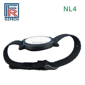 Image 1 - 1pcs 125khz RFID Adjustable Nylon wristband Bracelet watch strap card/tag with EM4100 Tk4100 for access control