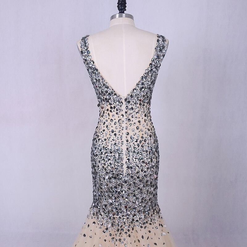 Lyxig kvällsklänning 2019 LORIE Silvergrå kristaller Beading Tulle - Särskilda tillfällen klänningar - Foto 6