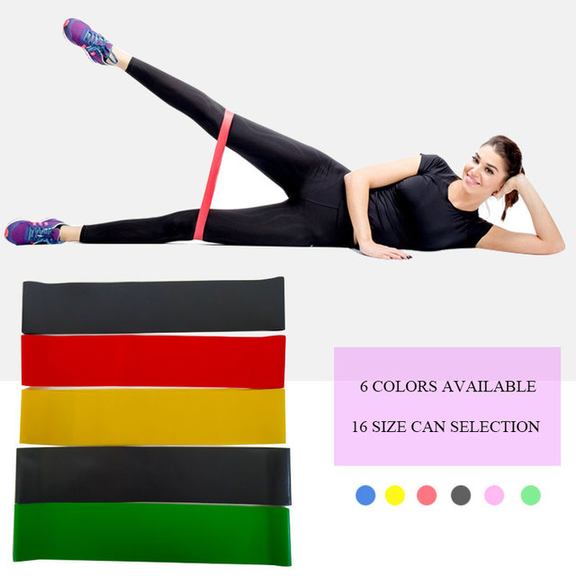 Elastic Yoga Rubber Resistance Bands Gum for Fitness Equipment Exercise Band Workout Pull Rope Stretch Training Pilates Expander