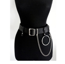 2018 נשים PU רתמת עור חגורות גוף רתמה חגורות מותניים חגורות שעבוד חגורת חגורת מתכווננת כפולה רצועות כפולות LP-018