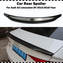 Caractere style carbon fiber rear spoiler wing for audi a3 sedan limousine 2014-2018 s3 8v ca styling rear trunk wing spoiler a3 s3 8v carbon fiber rear trunk lip spoiler wing for audi a3 s3 8v sedan 2014 2015 v style