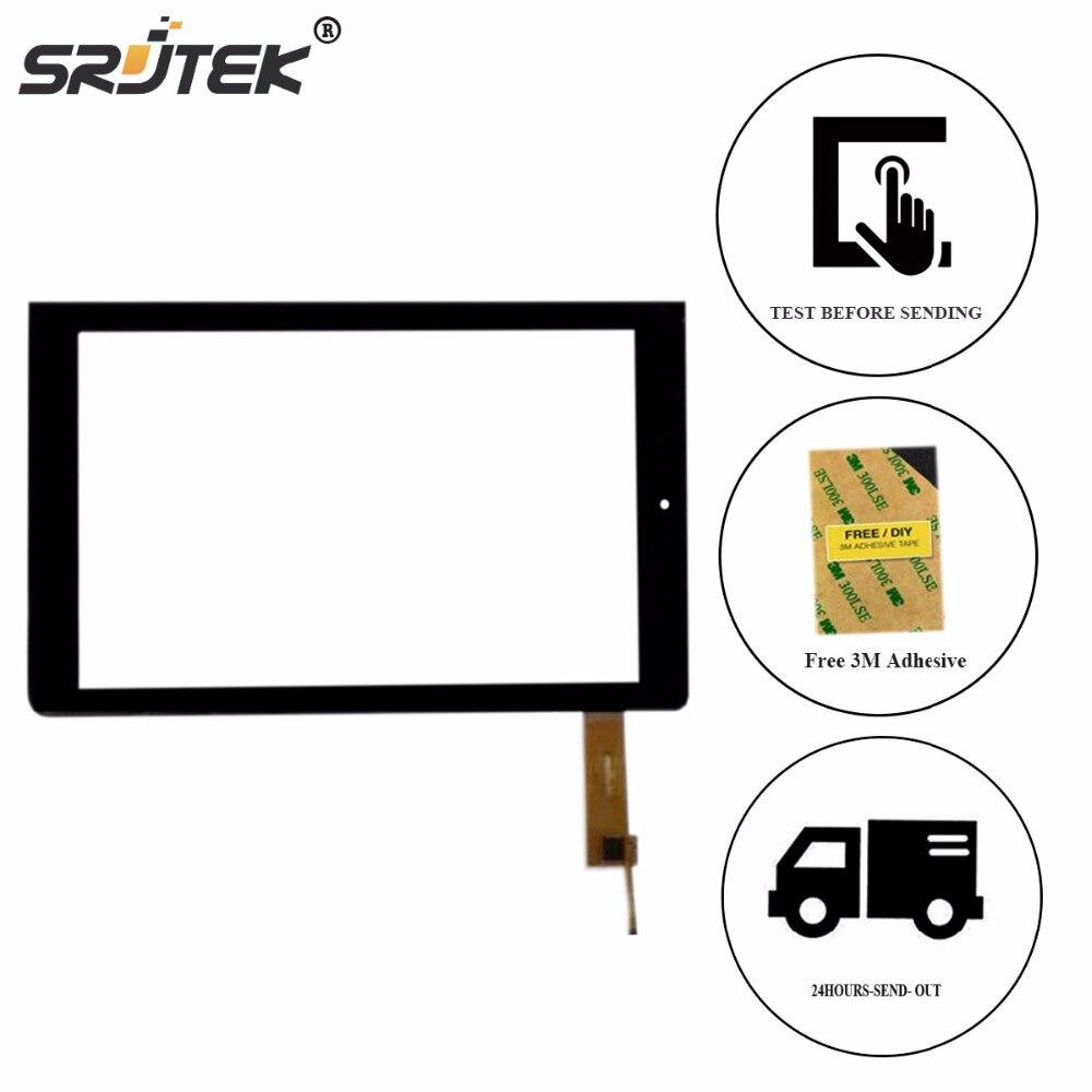 Srjtek 10.1 Black For Qumo Sirius Yooda 3G Touch Screen Digitizer Glass Panel Sensor Tablet PC Repair Parts black touch screen glass panel sensor
