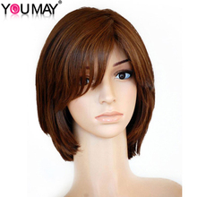 Unprocessed European Remy Hair Pure Color Silky Straight Silk Top Full Lace Jewish Wigs With Bang You May