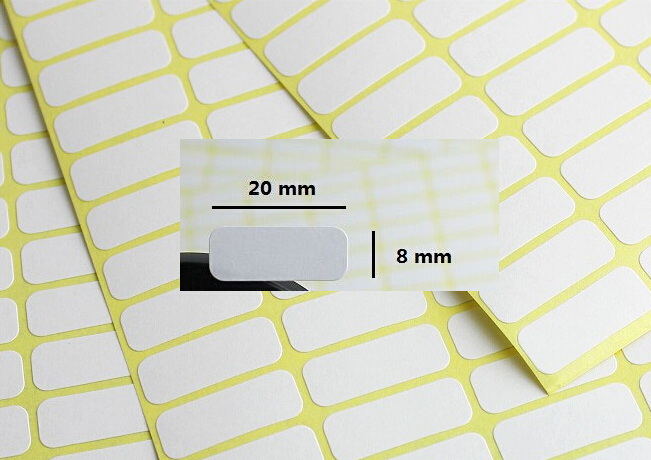US $1 49 |288 pcs Mini Blank Label 8 x 20mm Plain White Self Adhesive Price  Sticker Labels Tags blank sticker price label-in Party Favors from Home &