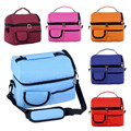 2017 Double-deck Mommy Bag High Capacity Handbags Picnic Cooler Ice Pack Lunch Insulated Storage Tote Satchel Lunch Bag bolsa