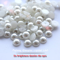 2mm -12mm ABS imitation flatback Beige pearl half round cabochon for DIY decoration Nail Art pearl etc.