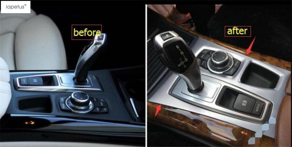 Accessories For BMW X5 E70 2009 - 2013 / X6 E71 2010 - 2014 Transmission Stalls Shift Gear Panel Decoration Cover Kit Trim 1 Pcs accessories for bmw x5 f15 2014 2016 x6 f16 2014 2017 abs rear armrest box decoration molding cover trim 2 pcs set