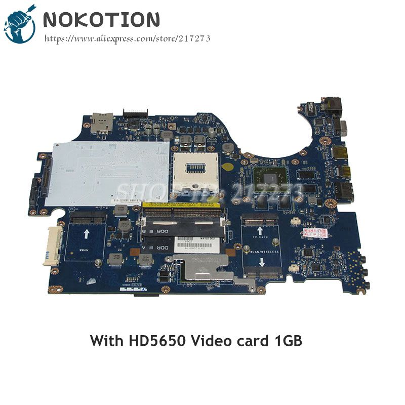 NOKOTION CN-0W87G9 0W87G9 W87G9 For Dell Studio 1749 Laptop Motherboard NAT02 LA-5155P HD5650 Video card DDR3 HM57 nokotion for dell inspiron m301z n301z laptop motherboard cn 0f1x70 0f1x70 hm57 i3 330um cpu ddr3 hd5430 video card
