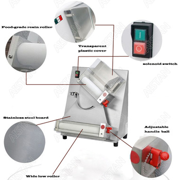 DR2A electric commercial stainless steel pizza dough roller/dough sheeter machine/dough press machine 2