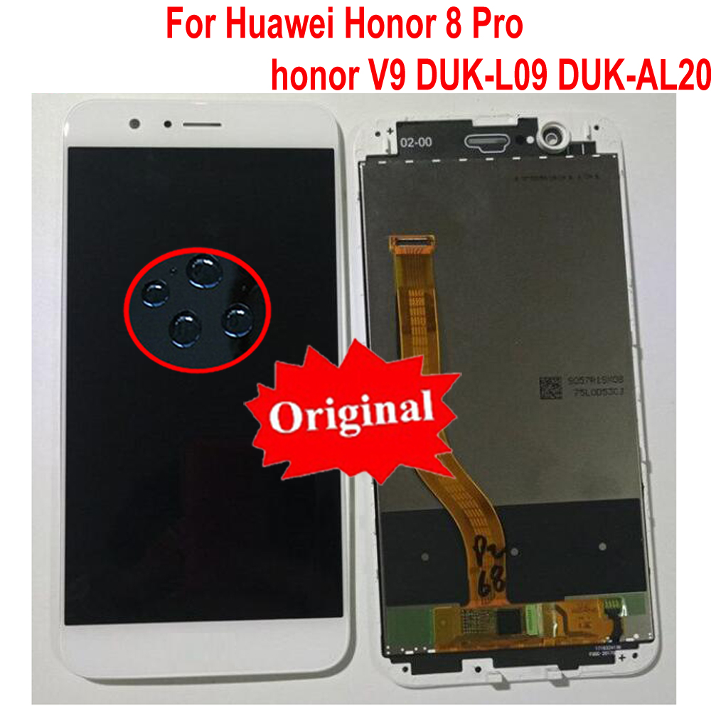 LTPro Original Sensor LCD Display Touch Screen Digitizer Assembly with Frame For Huawei Honor 8 Pro