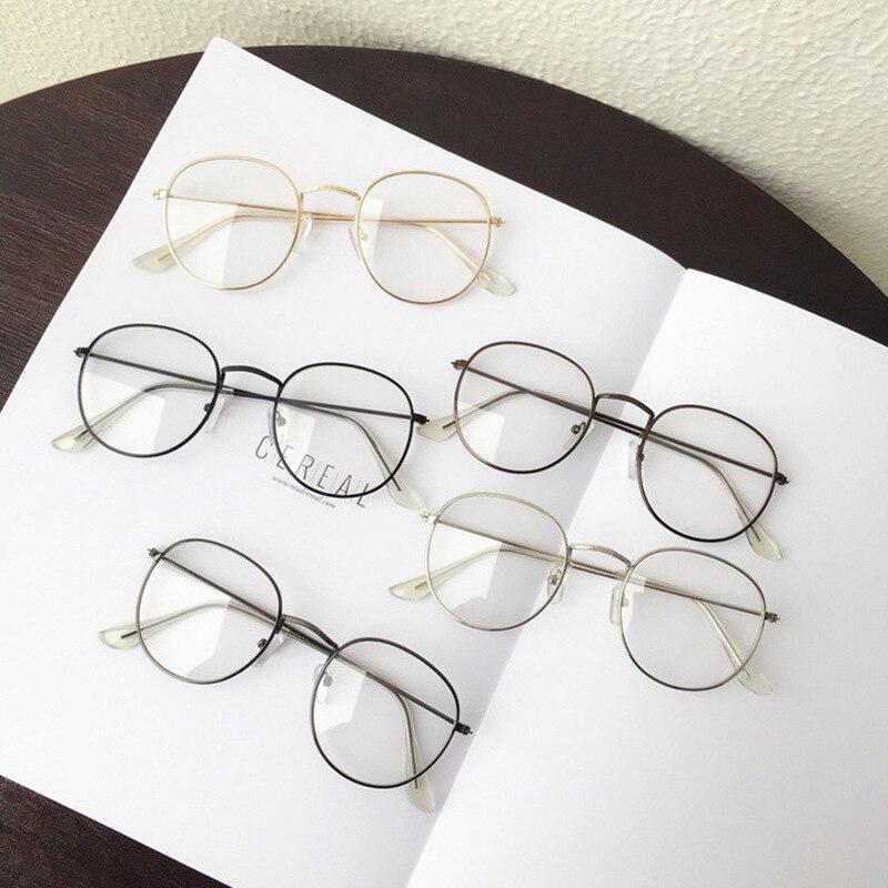 1 Pc Beliebte Vintage Runde Metall Vintage Brillen Rahmen Retro Weibliche Marke Spektakel Plain Brillen Brillen Brillen Gut Verkaufen Auf Der Ganzen Welt