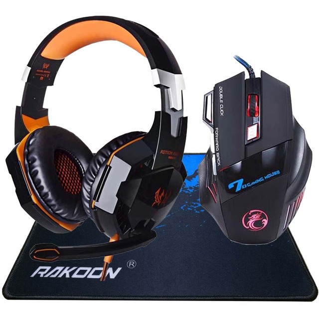 5500 DPI X7 Pro Gaming Mouse+ Hifi Pro Gaming Headphone 2