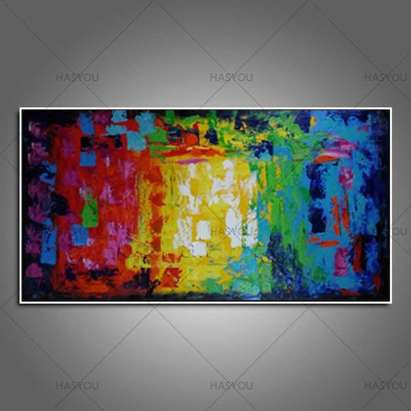 Tangan Dicat Abstrak Kanvas besar Lukisan Minyak pada Cnavas gambar Karya Seni Kontemporer Wall Art Modern Home Decor hadiah terbaik