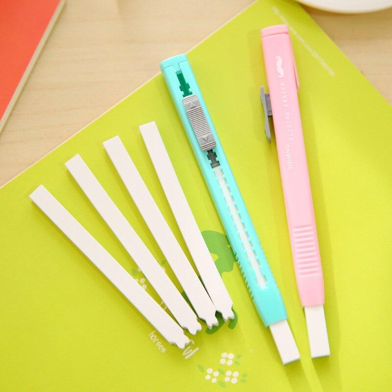 Scalable Refills Cute Eraser Set Have Two Refills Office School Cute Borracha School Kawaii Material Escolar Office Supplies5028