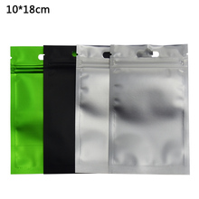 10*18cm 100pcs/lot Aluminum Foil Ziplock Frosted Clear Front Packing Bags Heat Sealing Resealable Zip Lock Food Storage Pouch
