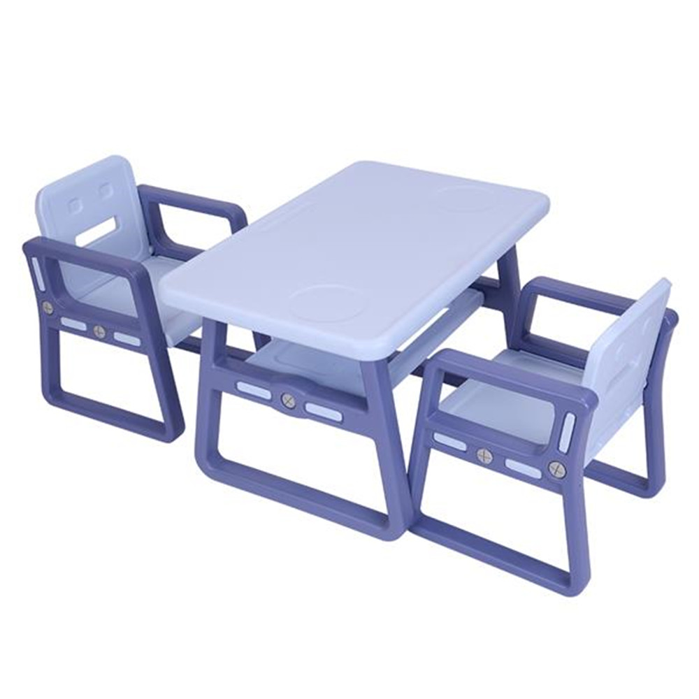 Kids Table And Chairs Set - Toddler Activity Chair Best For Toddlers Lego, Reading, Train, Art Play-Room 2 Childrens Seats