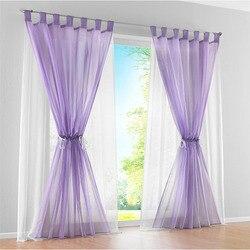 Europejski i amerykański styl fioletowy dwuwarstwowa zasłona tiulowa do salonu sypialnia solidny woal do drzwi do okna T223 #4