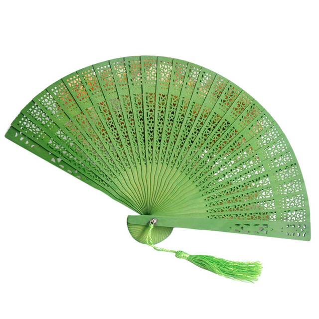 Us 122 35 Offfolding Hand Held Fan Chinese Style Wooden Carved Bamboo Fan Wedding Party Gifts Decoration Drop Shipping 411 In Decorative Fans From