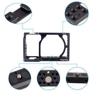Image 3 - MAGICRIG DSLR kamera kafesi için Üst Kolu ile Sony A6400/A6000/A6300/A6500 Kamera Dağı Mikrofon Monitör flash