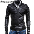 motorcycle jacket Men's Slim Fit Leather Jacket Clothing Free shipping 2016 spring new fashion new Korean men's Slim leather