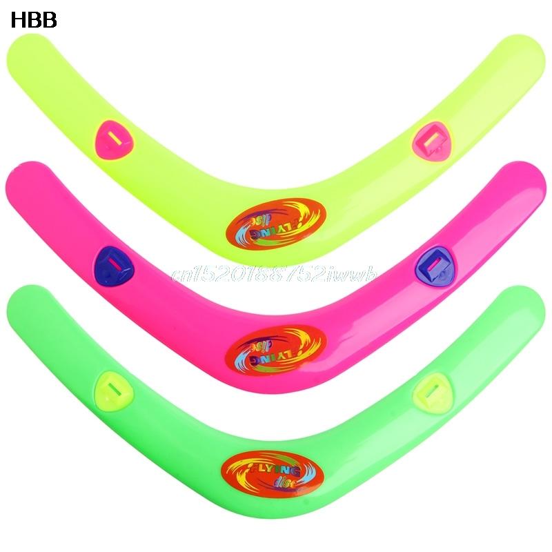 v en forma de boomerang frisbee throw nios captura juego de juguete de plstico al aire
