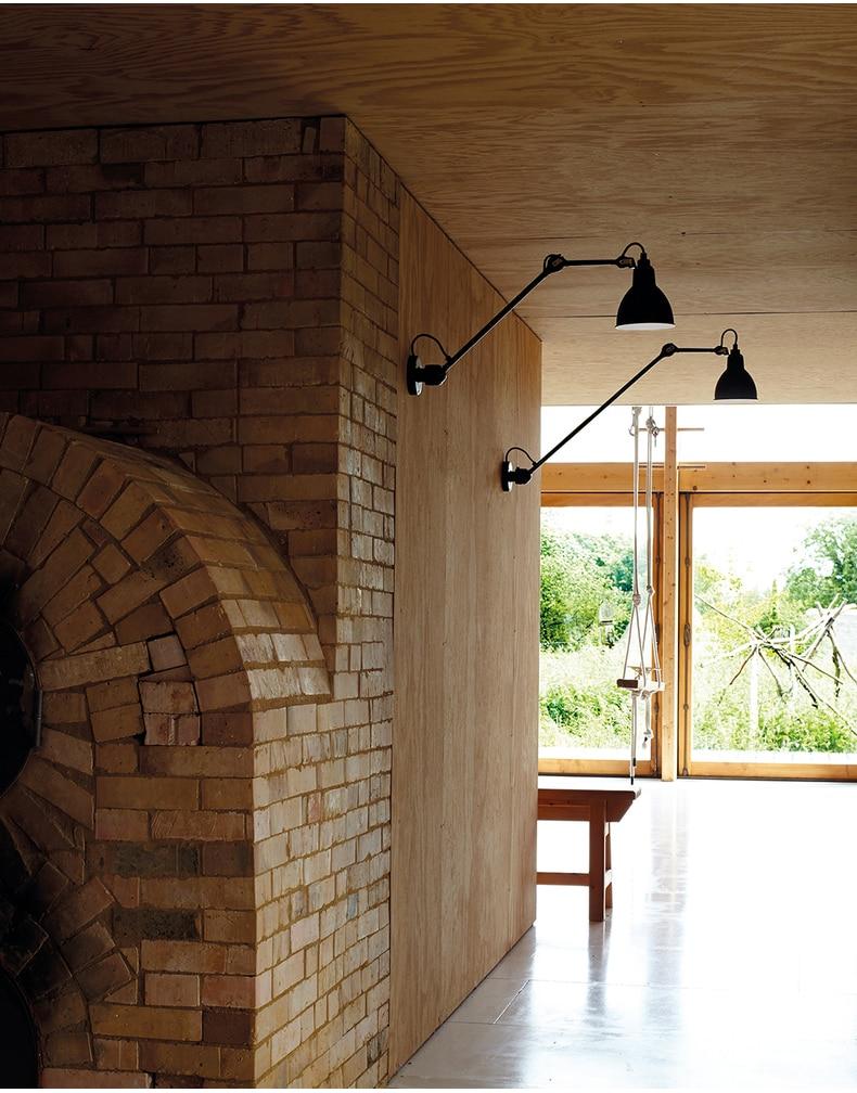 lâmpada de parede para leitura 360 graus