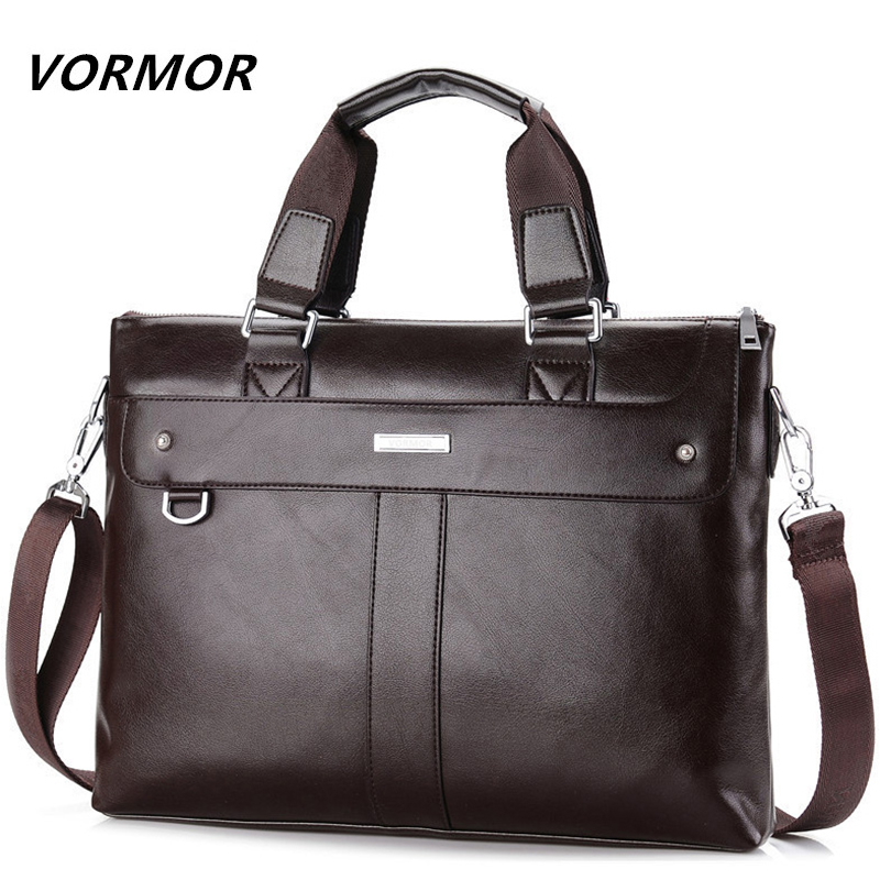 VORMOR 2018 Men Casual Briefcase Business Shoulder Bag Leather Messenger Bags Computer Laptop Handbag Bag Men's Travel Bags 2017 men casual briefcase business shoulder genuine leather bag men messenger bags computer laptop handbag bag men s travel bags