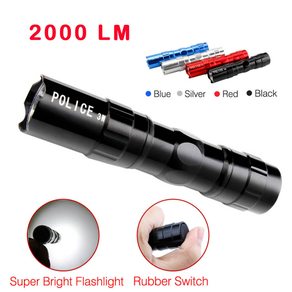 2017 Mini 3W 2000 LM LED Flashlight Super Bright Medical Pen Light Keychain Portable For Camping Hiking