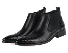 Дышащий моды коричневый загар/черный мужские ботинки из натуральной кожи мужские бизнес обувь 2017 мужские свадебные туфли ботинки платья