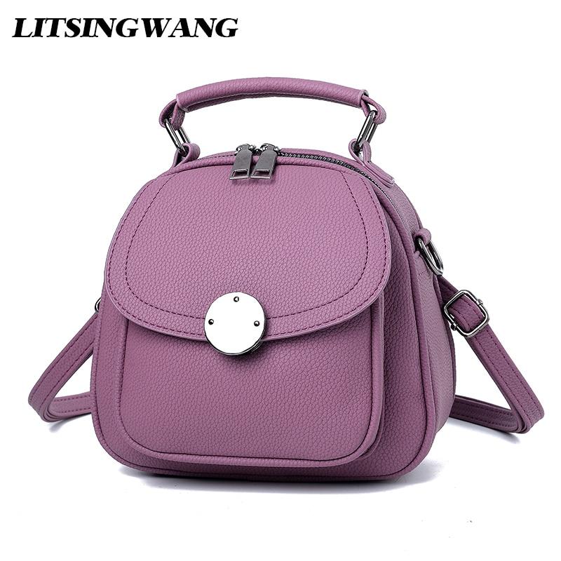 LITSINGWANG Brand Women Mini Backpack Female Fashion PU Leather Bag Multifunction Backpack For Girls European and