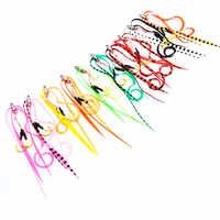 9 # crochet 10/50pcs Silicone jupe aide crochet crochet de pêche en mer crochet de pêche tête de gabarit crochet de pêche super fort