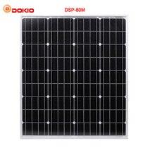 DOKIO Brand 80W 18 Volt Black Solar Panel China + 10A 12/24 Volt usb Controller 80 Watt Panels Solar Quality assurance