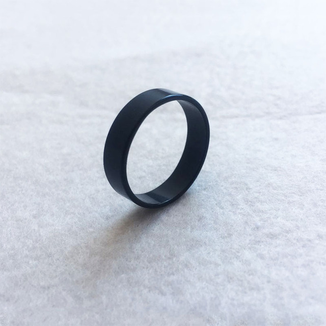 Titanium Steel Simple Rings Women Men Fashion Pure Black Ring for Female Male 6 7 8 9 10 Circlet Hot Sale SP099 1