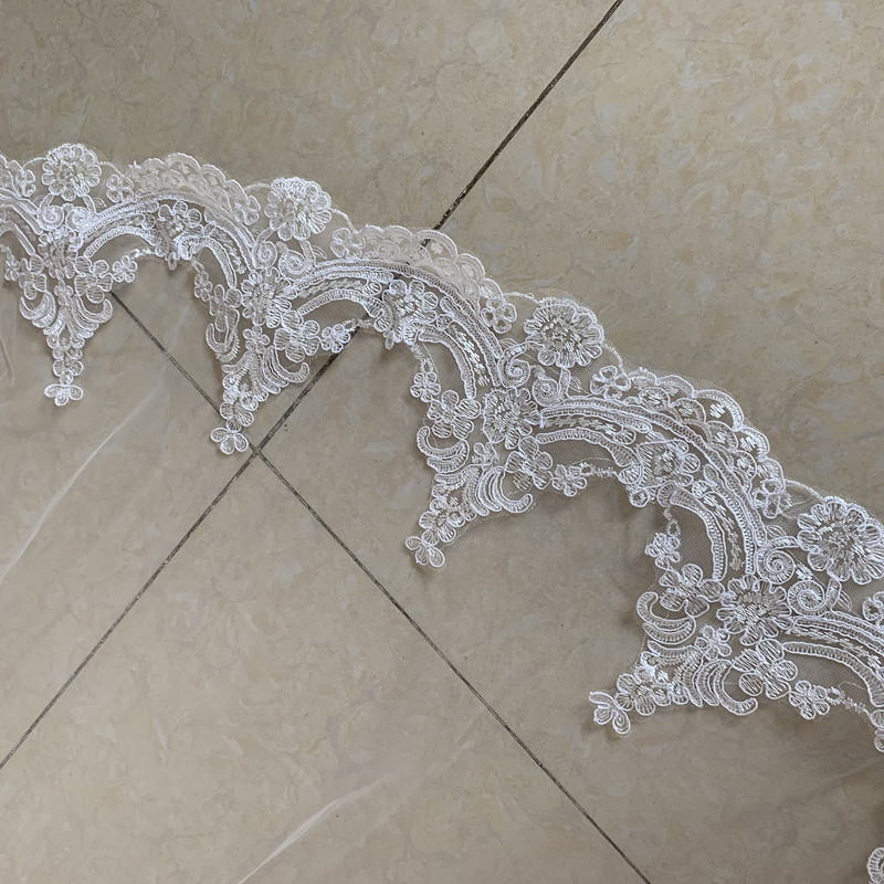 Veu de Noiva 3M Long Bridal Veils with Comb One Layer Lace Edge White Ivory Cathedral Wedding Veils Bride Wedding Accessories