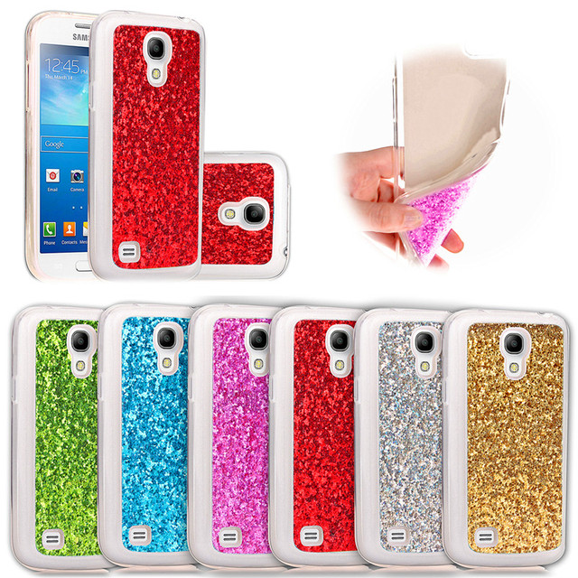 timeless design ac319 63972 US $3.32 5% OFF|For Samsung S4 Mini Case Colored Silicone TPU Shiny Glitter  Back Cover Case for Samsung Galaxy S4 Mini i9190 GT I9192 GT I9195-in ...