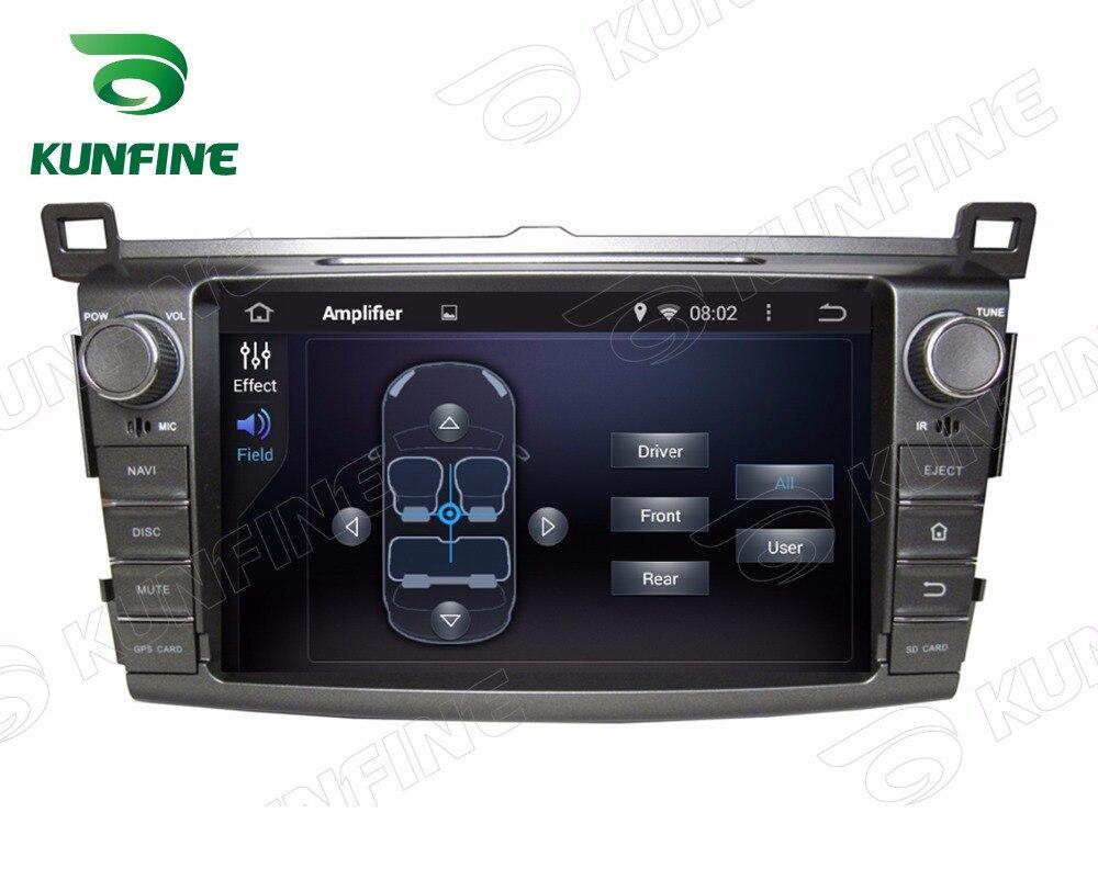 Quad Core 1024*600 Android 5.1 lecteur de voiture DVD GPS Navigation stéréo pour Toyota RAV4 2013 Radio 3G Wifi Bluetooth