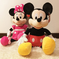 Free Shipping 40cm High Quality New Lovely Mickey Mouse Plush Toy Minnie Doll Christmas Birthday Gift