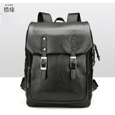 XIYUAN Men Backpacks 100% Genuine Leather Men's Travel laptop Bag Fashion Man Business Backpack Casual Male shoulder bags black marrant genuine leather backpacks men shoulder bag men bag leather laptop bag 15 inch men s luggage travel bags school backpack