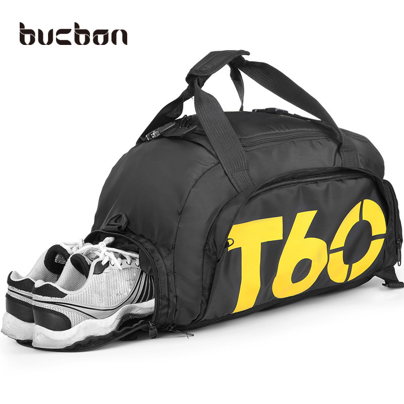 fb8bd0d2e3cc Bucbon Multi-use Portable Shoulder Sports Bag Gym Backpack Separated Shoes  Storage Fitness Bags Men Women Travel Daypack HAB097