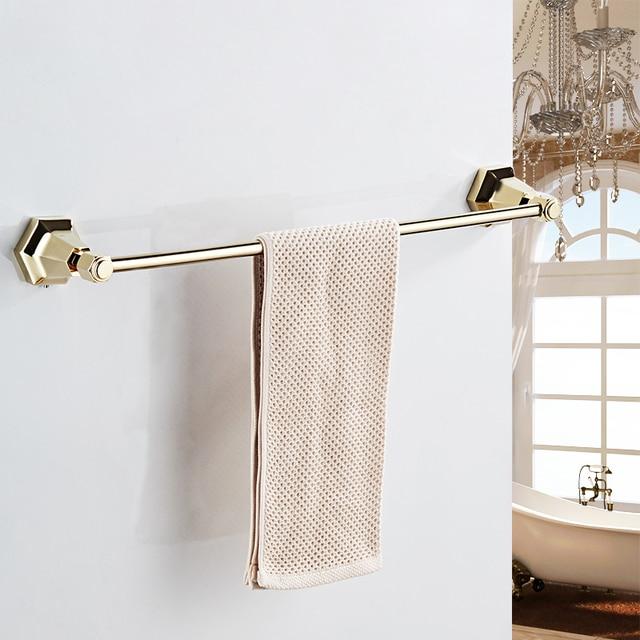 Single Towel Bars Black Color Wall Mounted Holder In Racks Hanger Bathroom Accessories